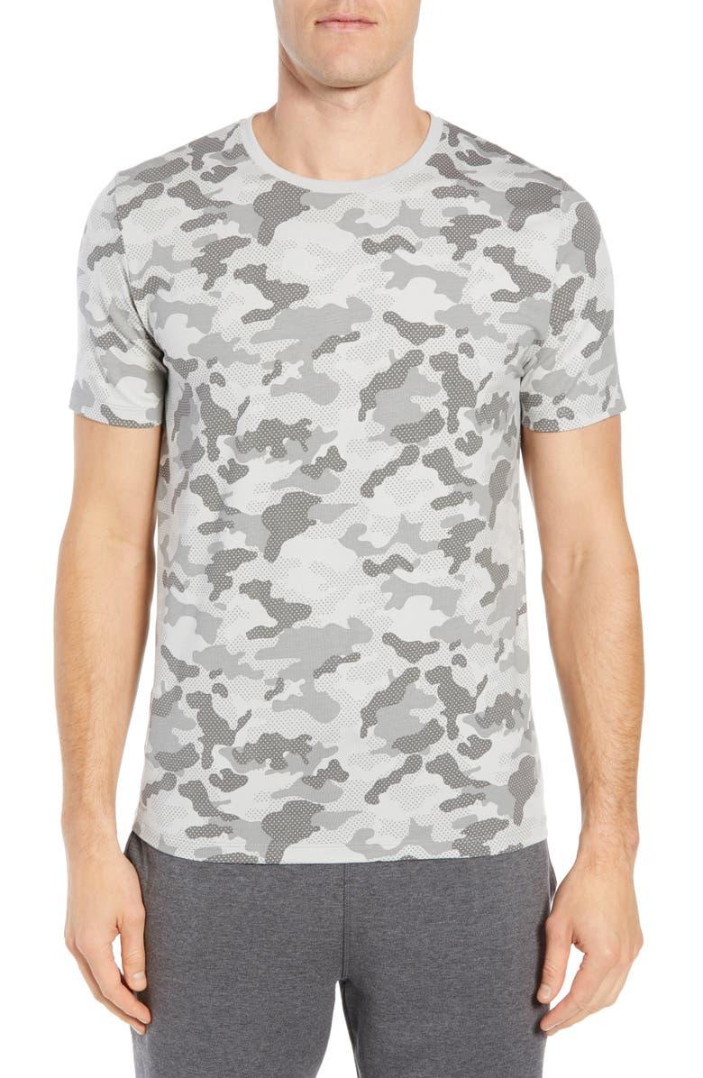 TOMMY JOHN Second Skin Crewneck Undershirt, Main, color, GREY CAMO