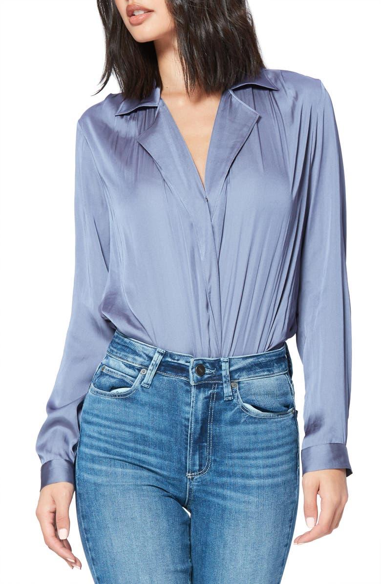 PAIGE Sevynne Bodysuit, Main, color, GRANITE