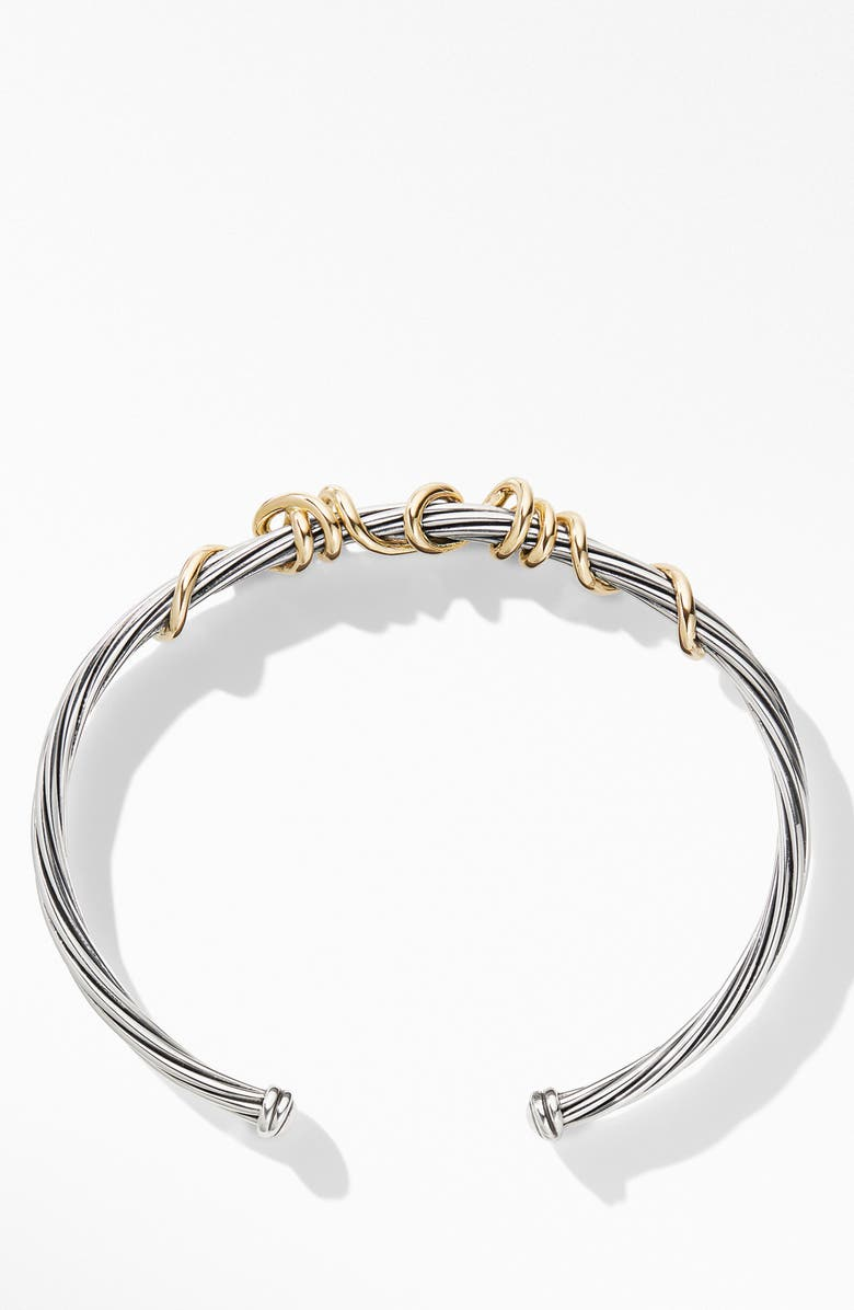 DAVID YURMAN Whispers Mom Bracelet with 14K Yellow Gold, Main, color, SILVER/ GOLD