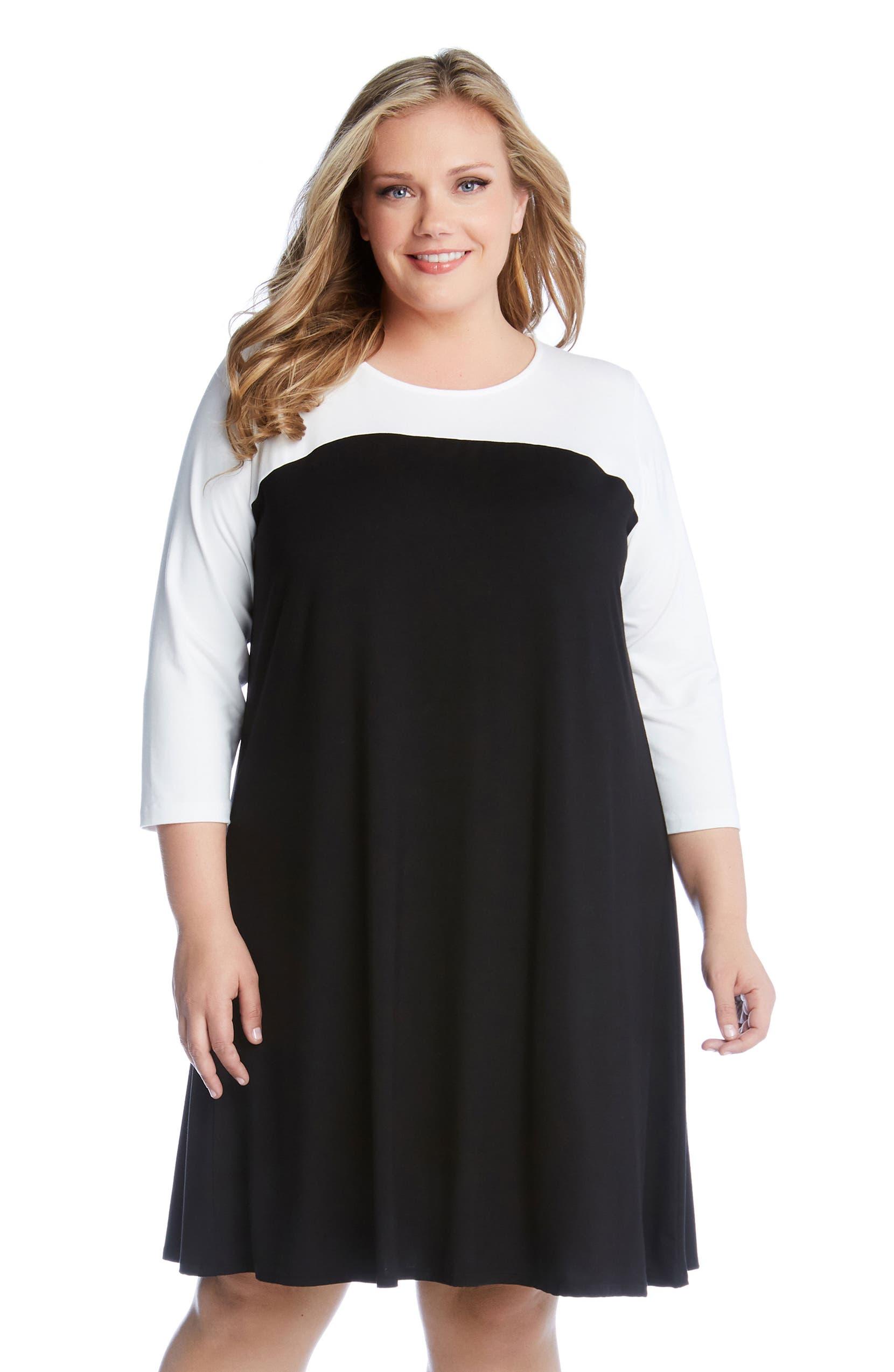 Karen Kane Colorblock Dress (Plus Size)   Nordstrom