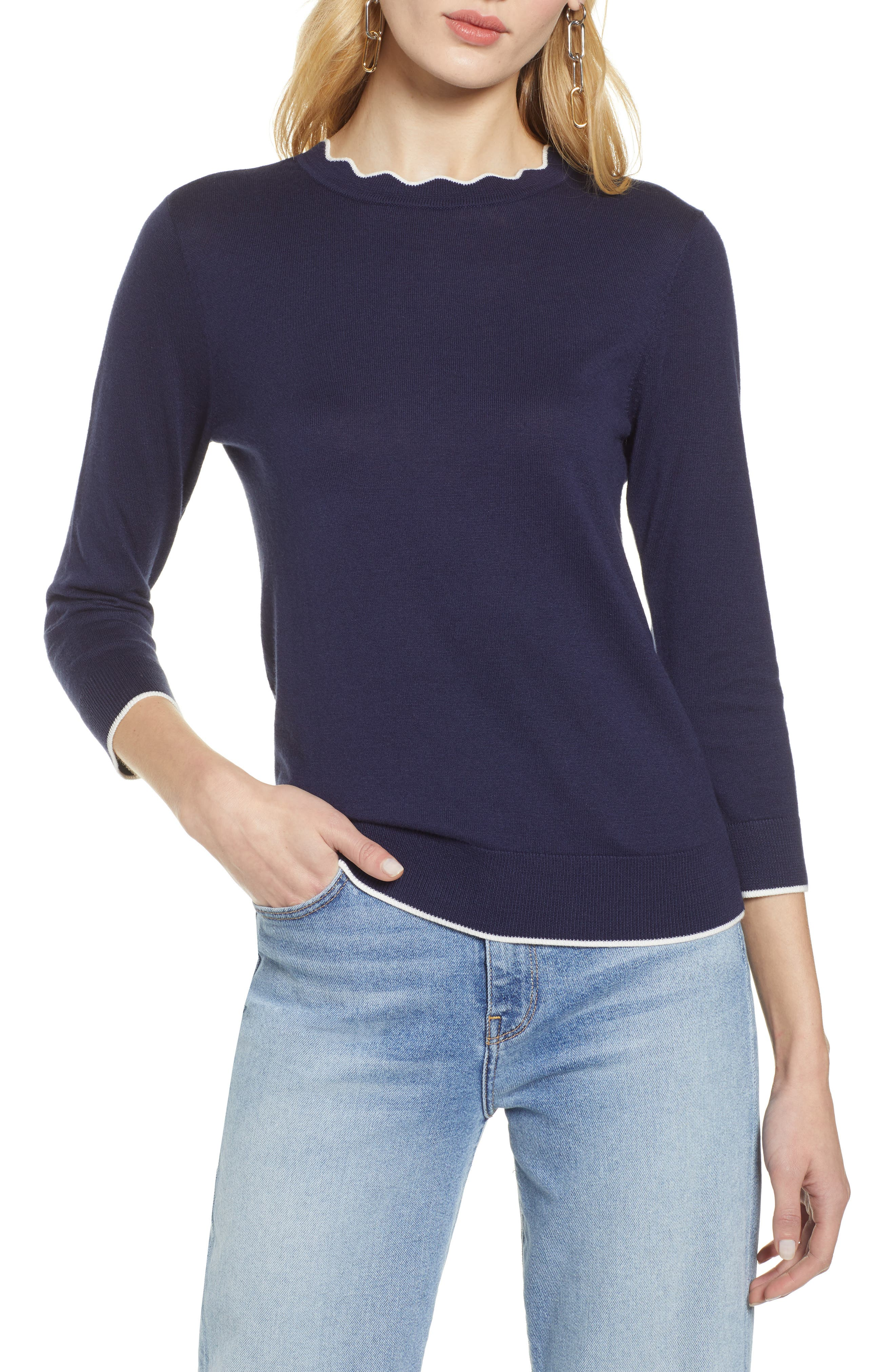 ,                             Scallop Neck Sweater,                             Main thumbnail 25, color,                             410