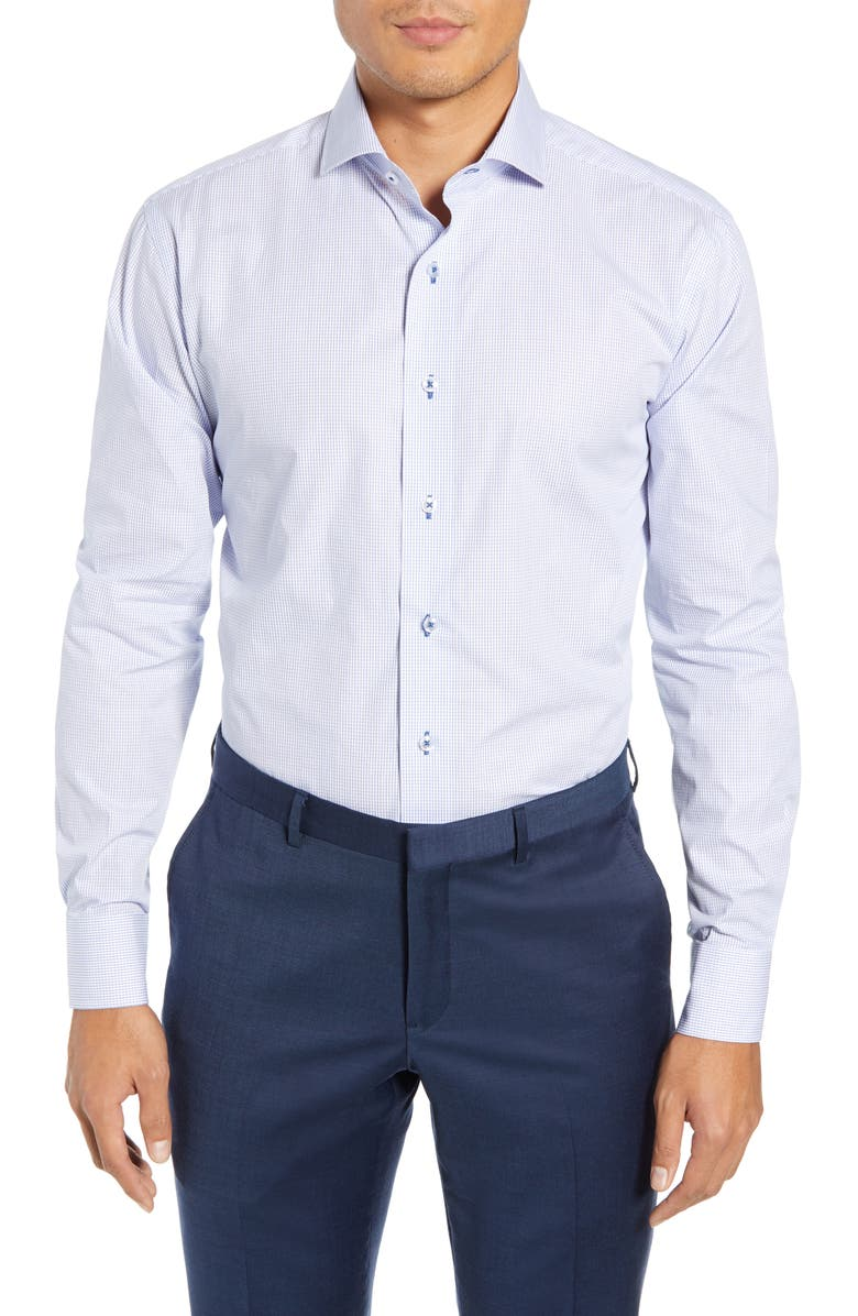 Lorenzo Uomo Trim Fit Check Dress Shirt