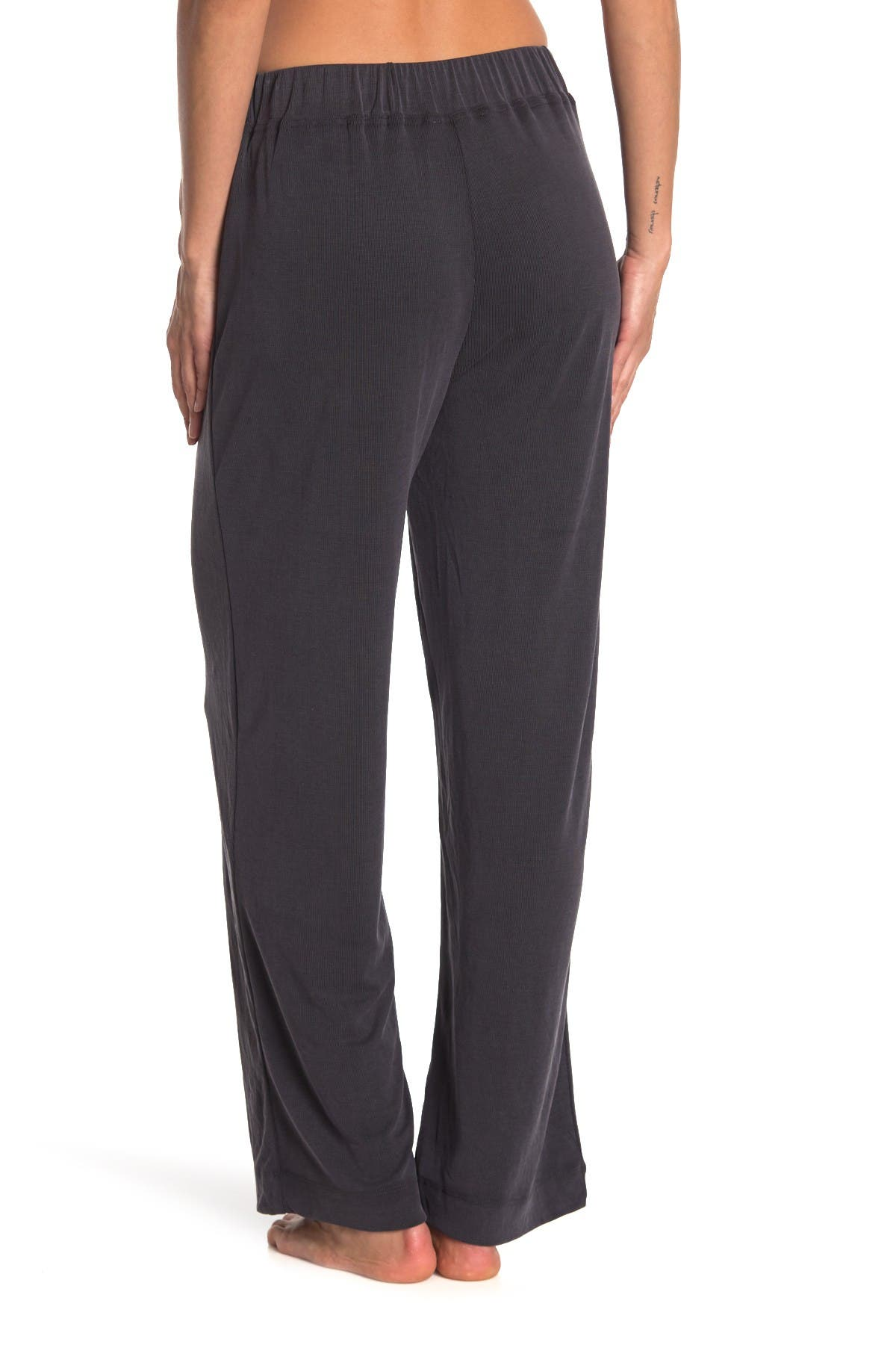 Image of Philosophy Apparel Ribbed Knit Pull-On Wide Leg Pants