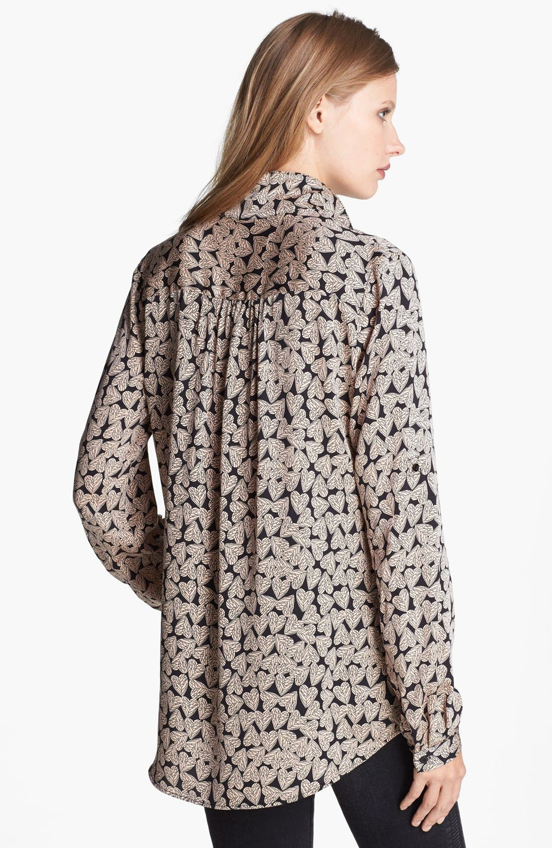 ,                             'Lorelei' Print Silk Shirt,                             Alternate thumbnail 2, color,                             800