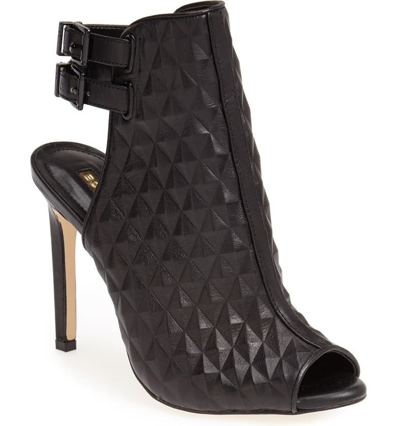 BCBGENERATION 'Comet' Quilted Bootie, Main, color, BLACK LEATHER