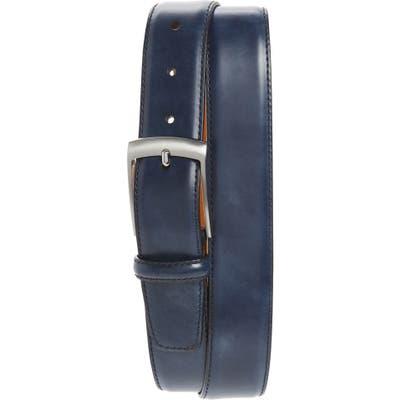 Magnanni Rafael Leather Belt, Navy