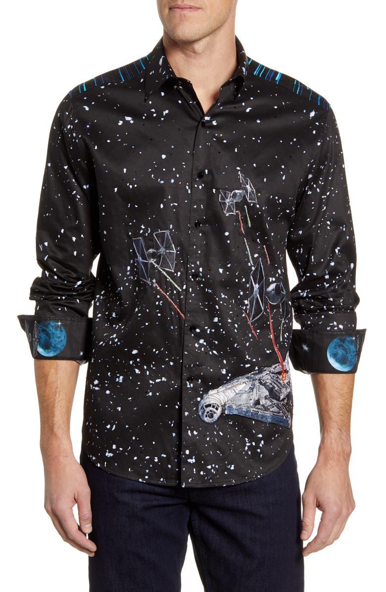 ROBERT GRAHAM The Falcon Classic Fit Button-Up Shirt, Main, color, BLACK