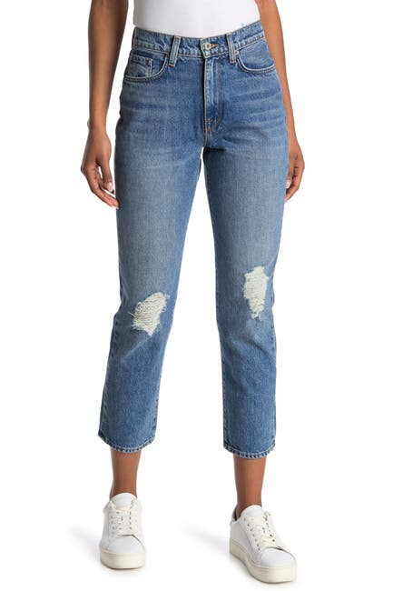 Image of BALDWIN Therese Distressed Straight Leg Jeans