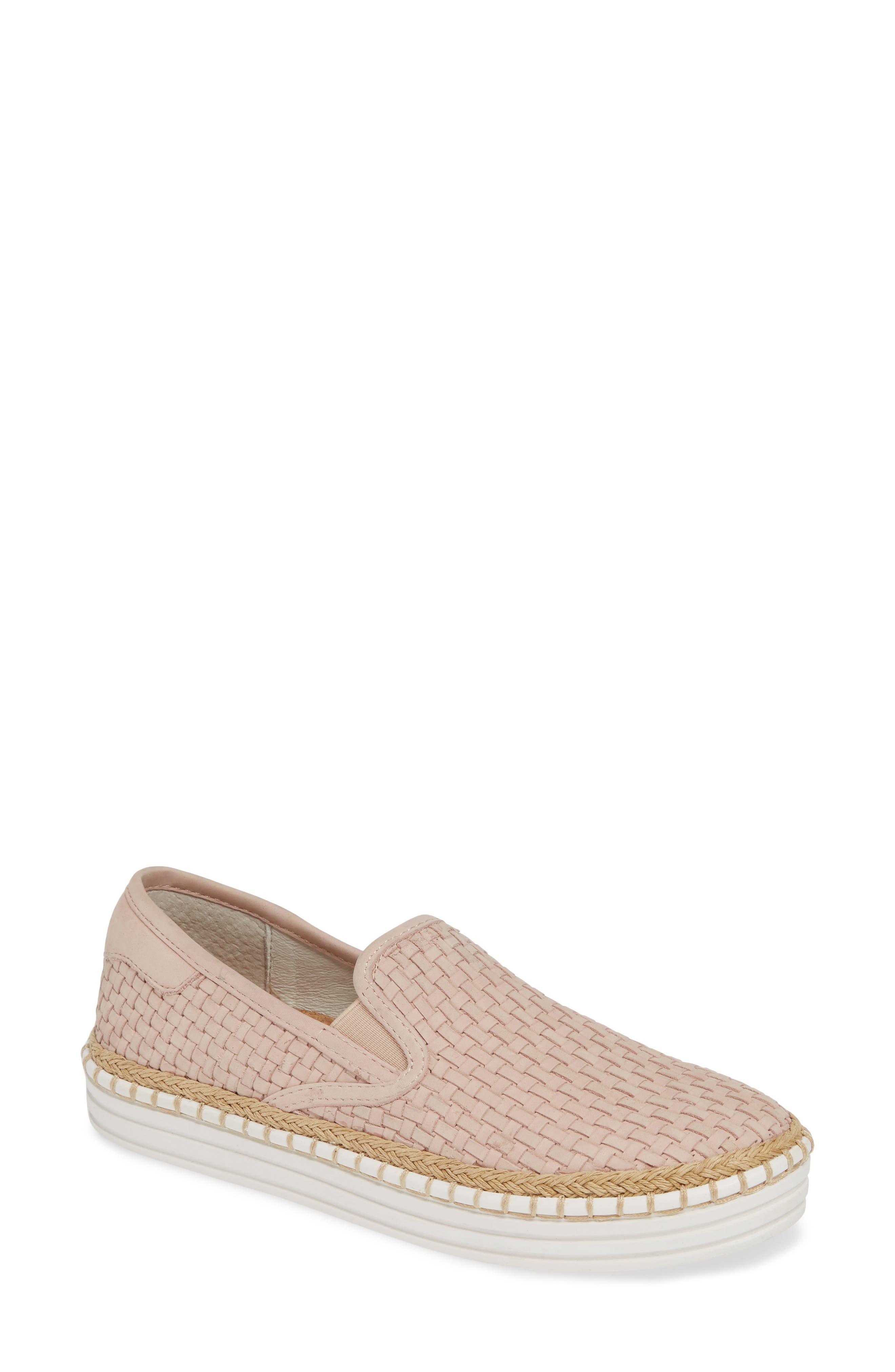 Jslides Kelly Woven Slip-On Sneaker, Pink