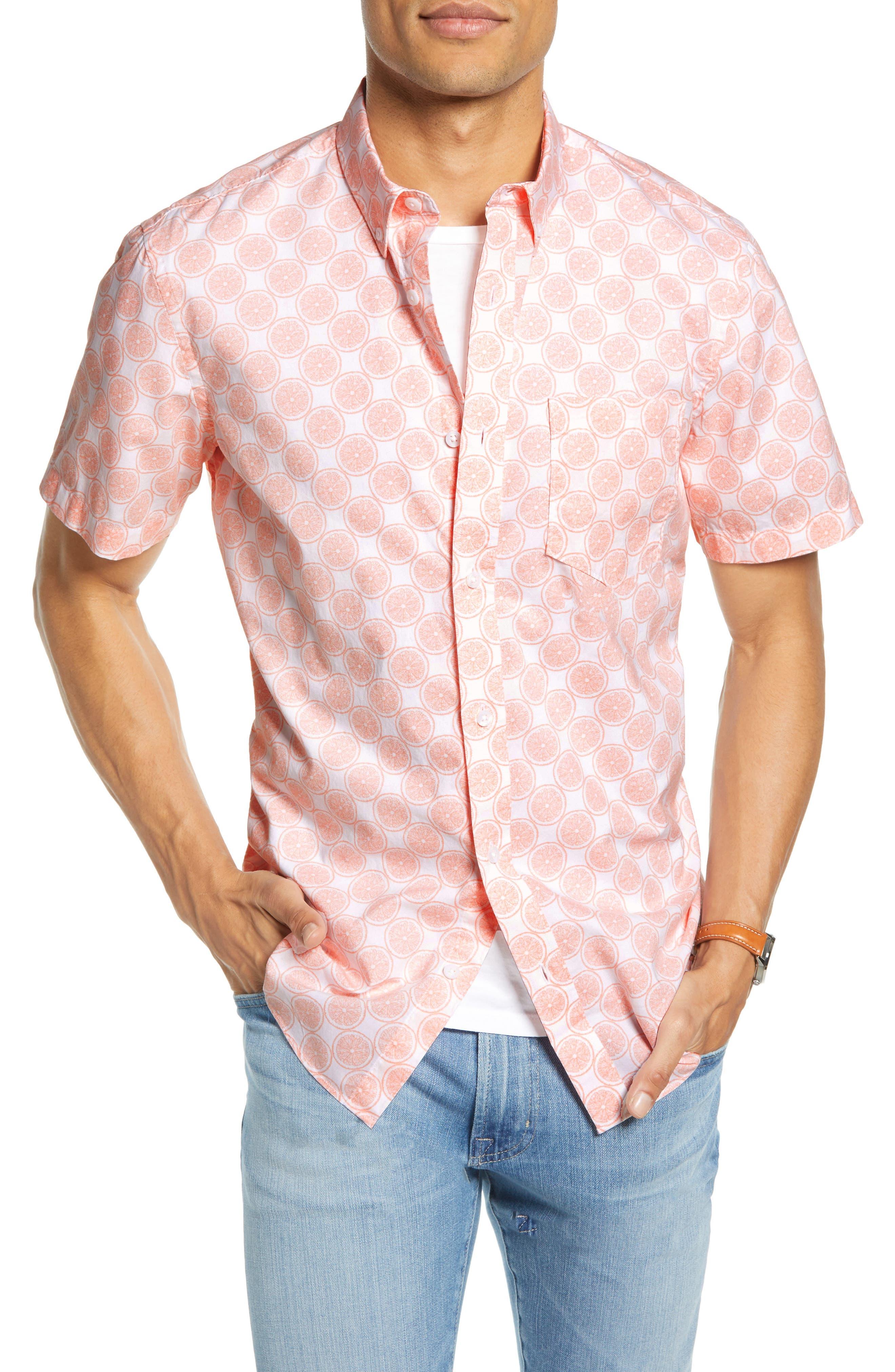 1901 Slim Fit Short Sleeve Button-Down Sport Shirt