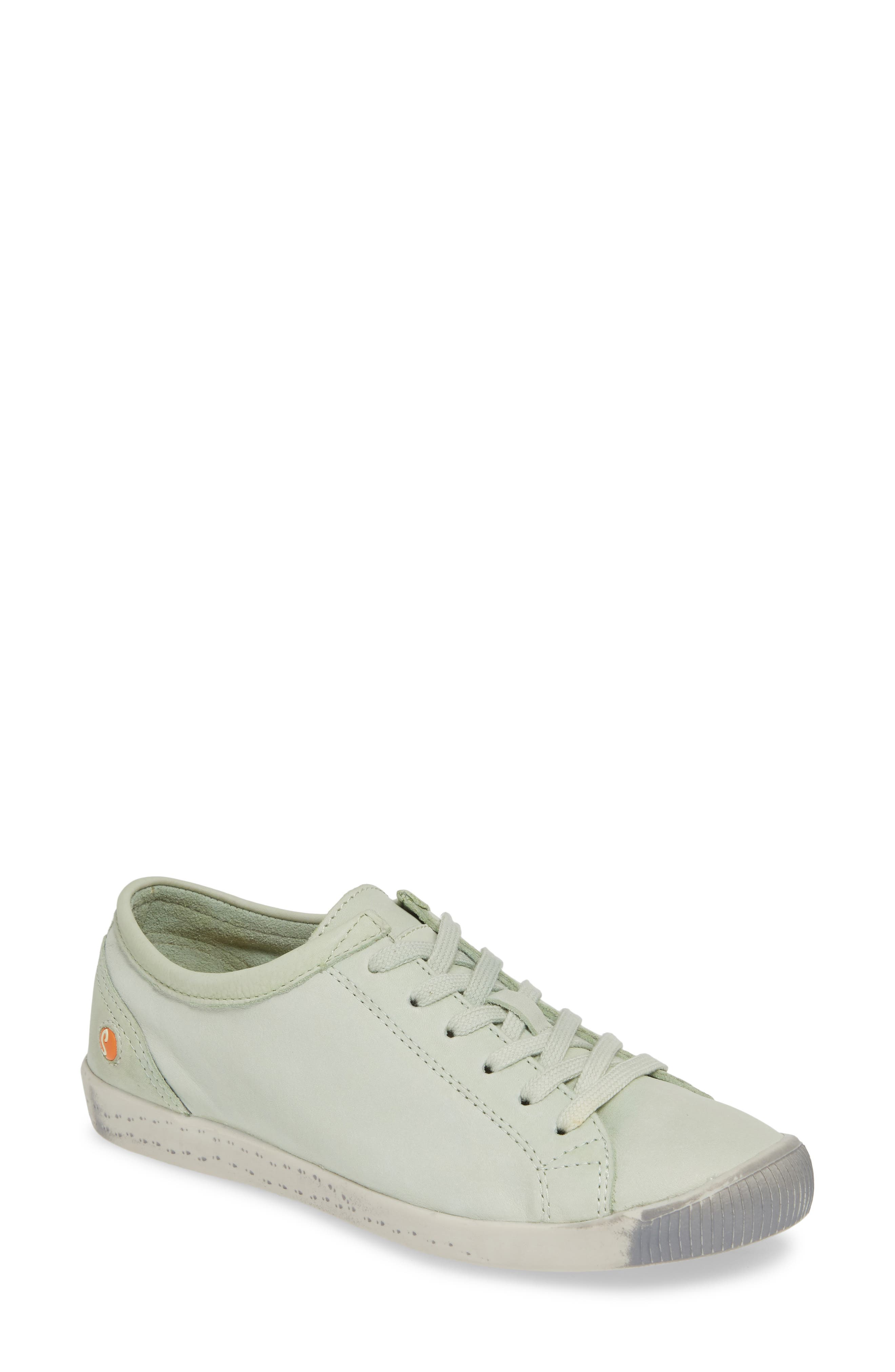 Softinos By Fly London Isla Distressed Sneaker, Green