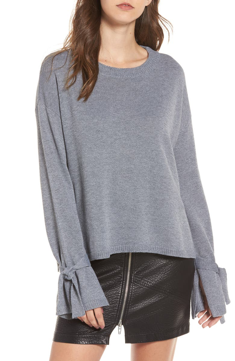 ASTR THE LABEL Tie Sleeve Sweater, Main, color, 035