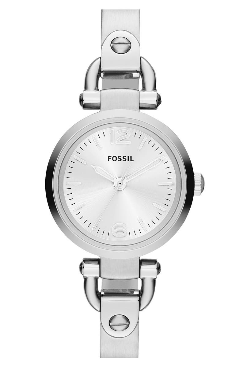 FOSSIL 'Small Georgia' Round Dial Bangle Watch, 26mm, Main, color, 040