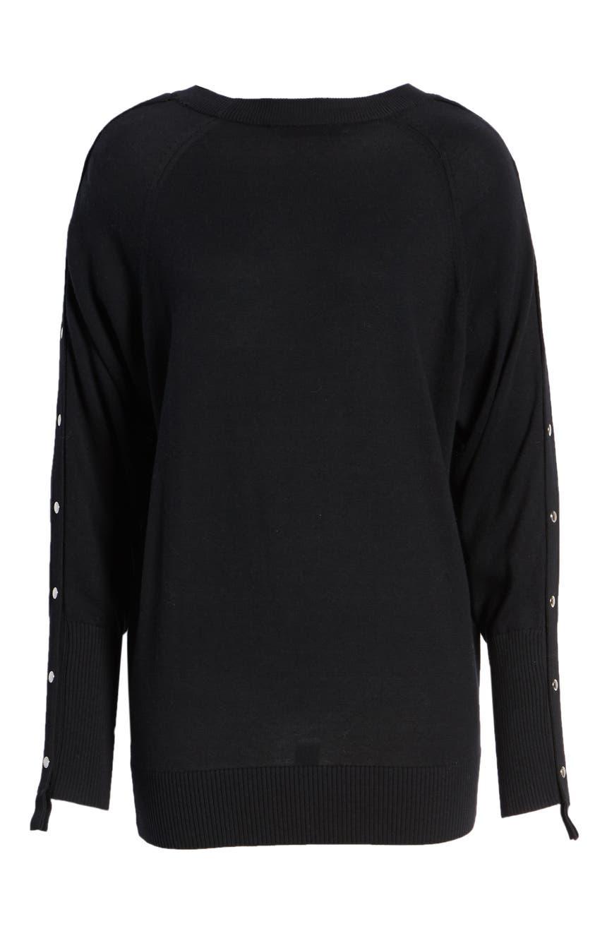 7bc64990538 ALLSAINTS Suzie Snap Sleeve Sweater
