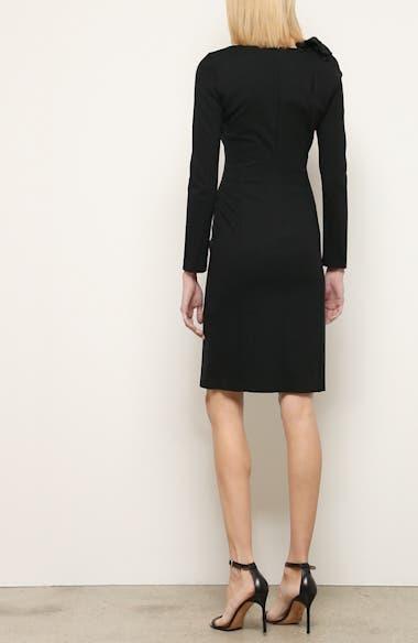 Long Sleeve Jersey Sheath Dress, video thumbnail
