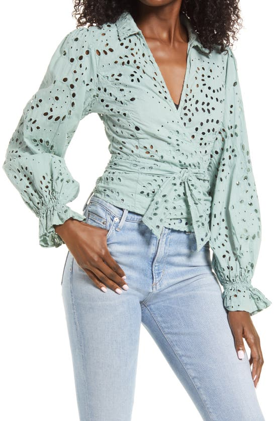 Guess KAMY EYELET WRAP BLOUSE
