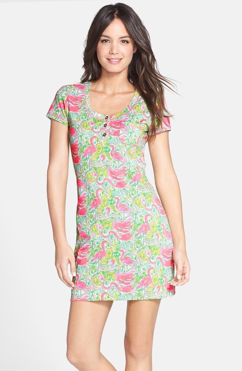 LILLY PULITZER<SUP>®</SUP> 'Britton' Floral Print Cotton T-Shirt Dress, Main, color, 115
