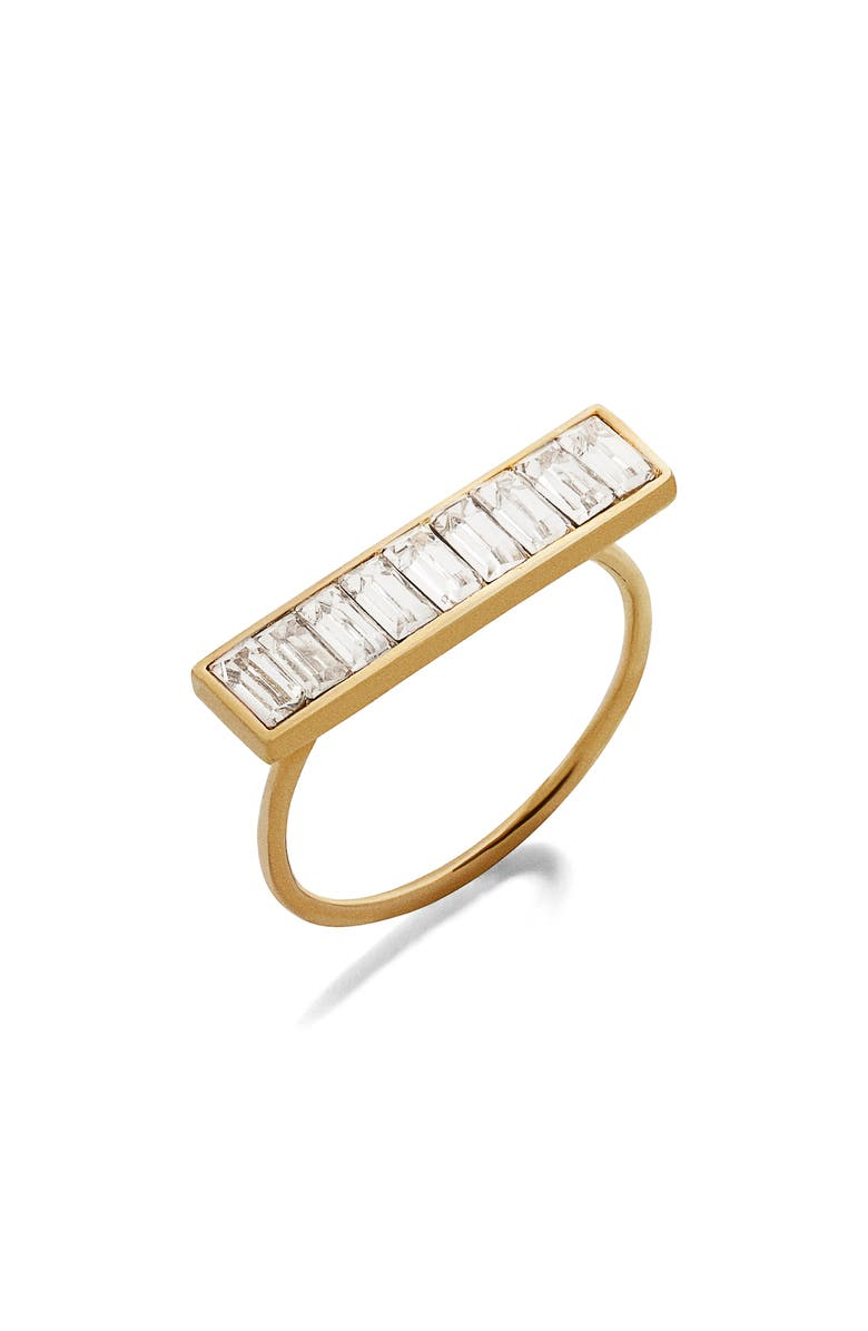 BAUBLEBAR Baguette Ring, Main, color, CLEAR/ GOLD