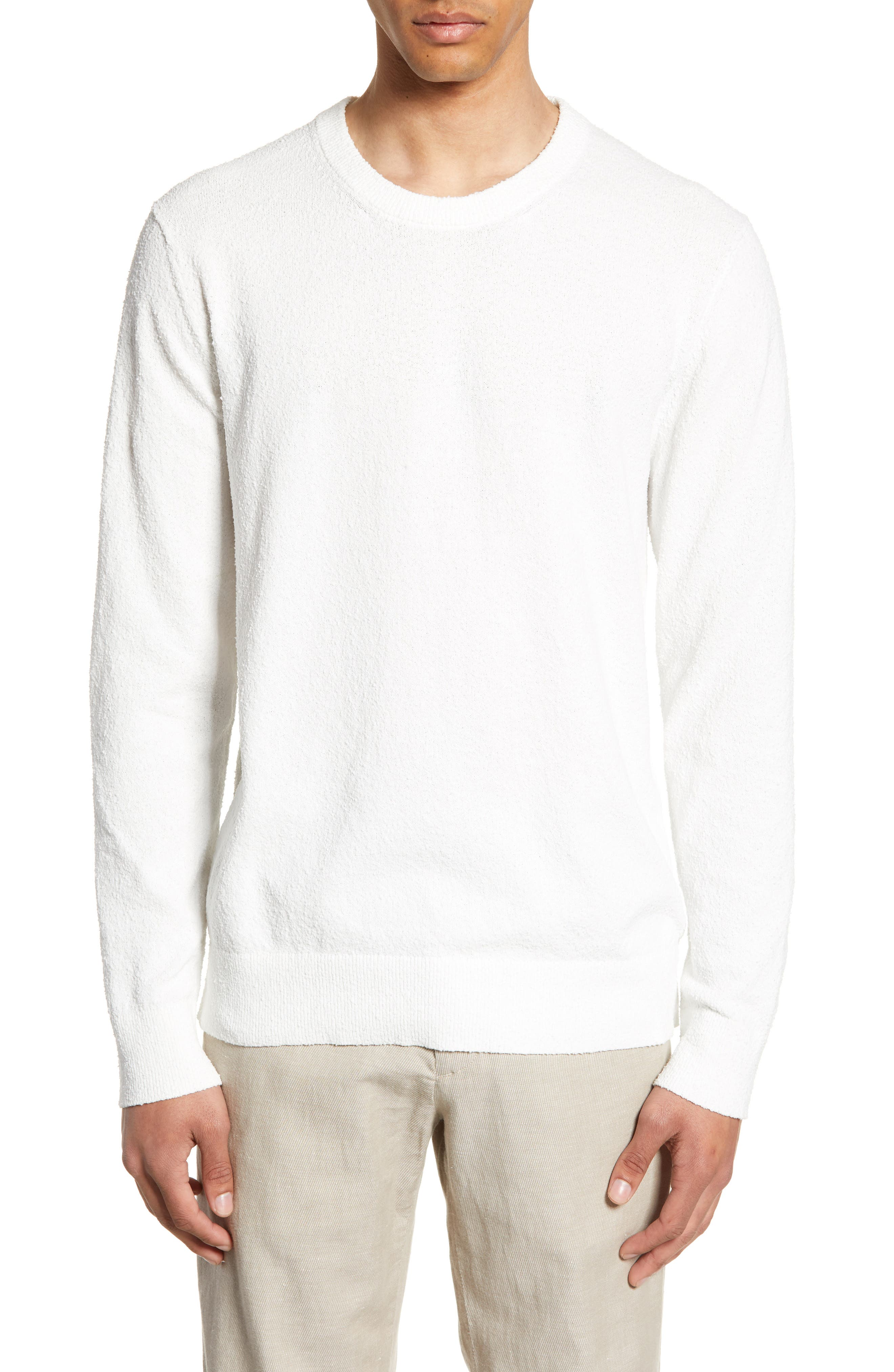 Club Monaco Slim Fit Boucle Sweater, Beige