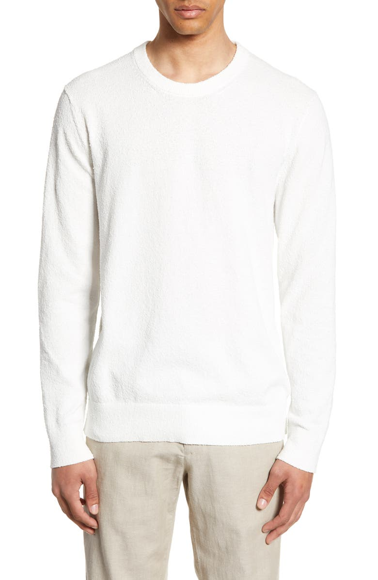 CLUB MONACO Slim Fit Bouclé Sweater, Main, color, 250