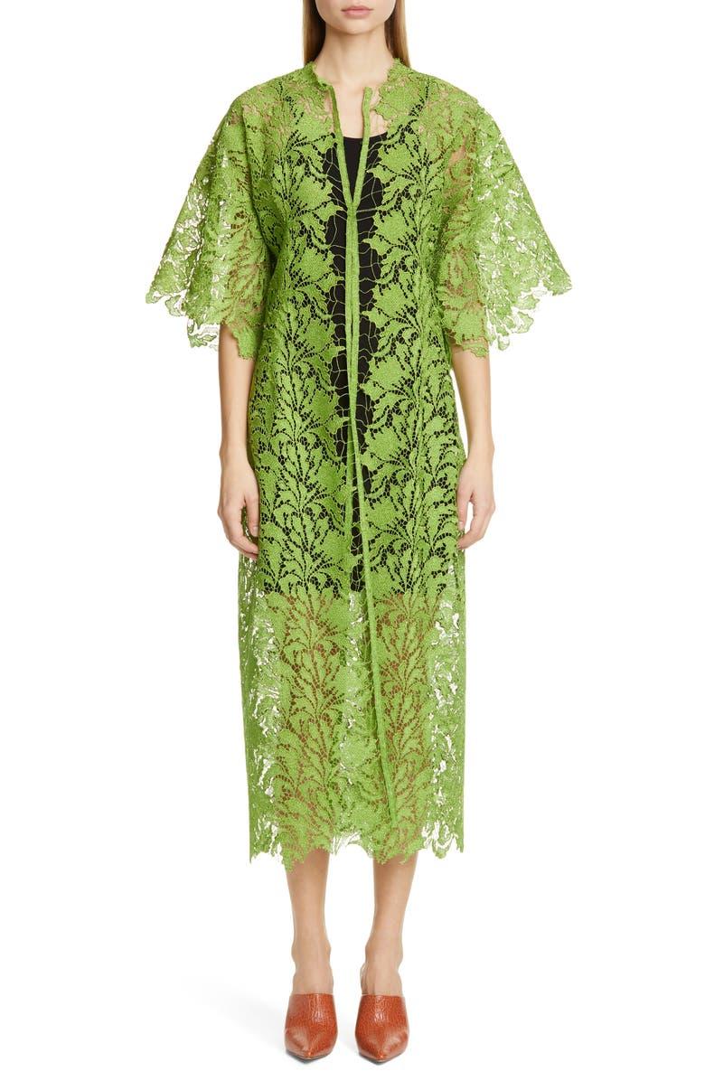 CULT GAIA Meela Lace Coat, Main, color, LIME