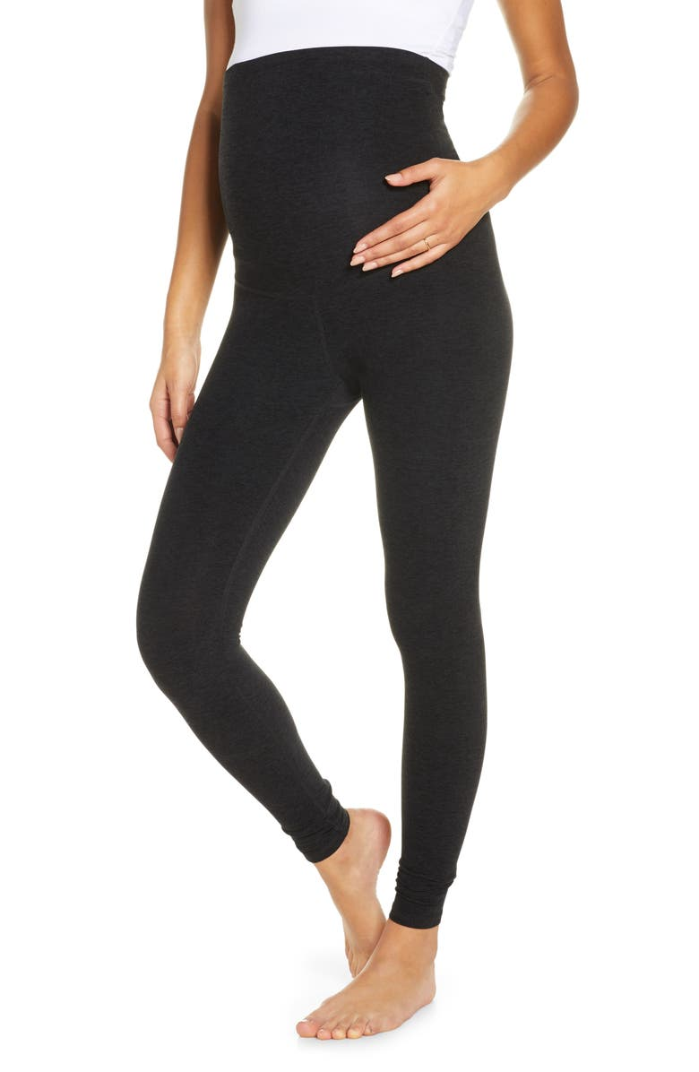 BEYOND YOGA Empire Waist Maternity Leggings, Main, color, 003