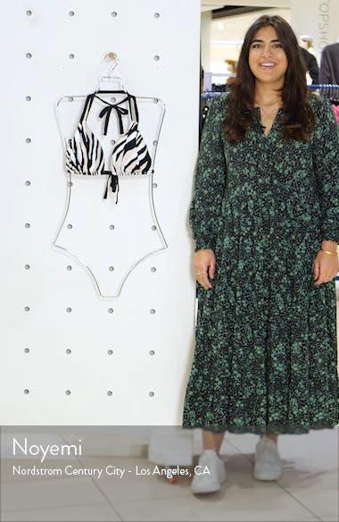 Zebra Print Halter Bikini Top, sales video thumbnail