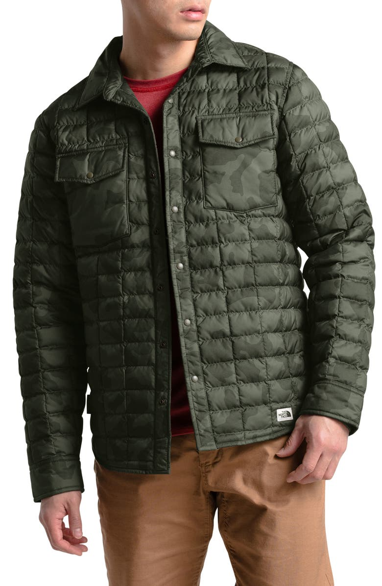 THE NORTH FACE ThermoBall<sup>™</sup> Eco Snap Jacket, Main, color, NEW TAUPE GREEN OVERSIZED CAMO