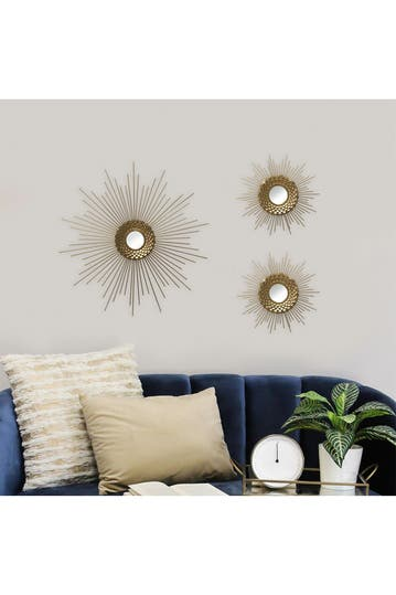 Stratton Home Honeycomb Mirror Wall Decor Hautelook
