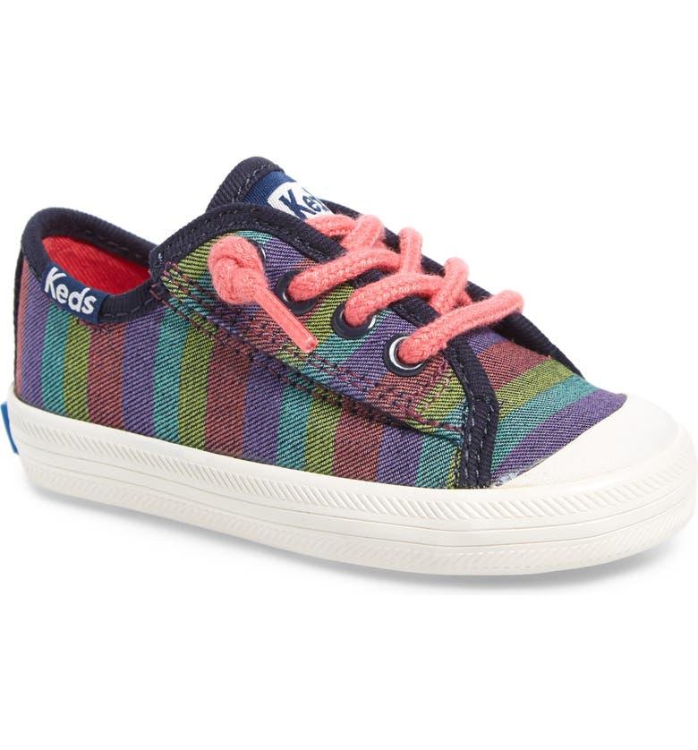 KEDS<SUP>®</SUP> Kickstart Cap Toe Sneaker, Main, color, RAINBOW STRIPE