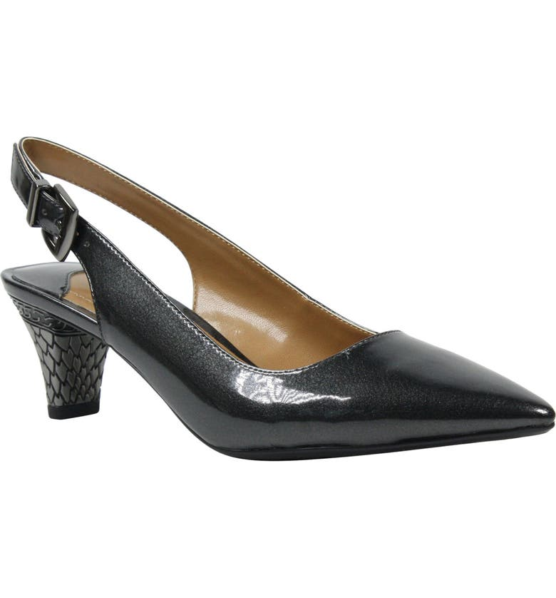 J. RENEÉ Mayetta Slingback Pump, Main, color, PEWTER FAUX LEATHER