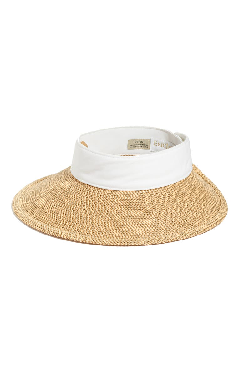 ERIC JAVITS 'Squishee<sup>®</sup> Halo' Hat, Main, color, PEANUT/ WHITE