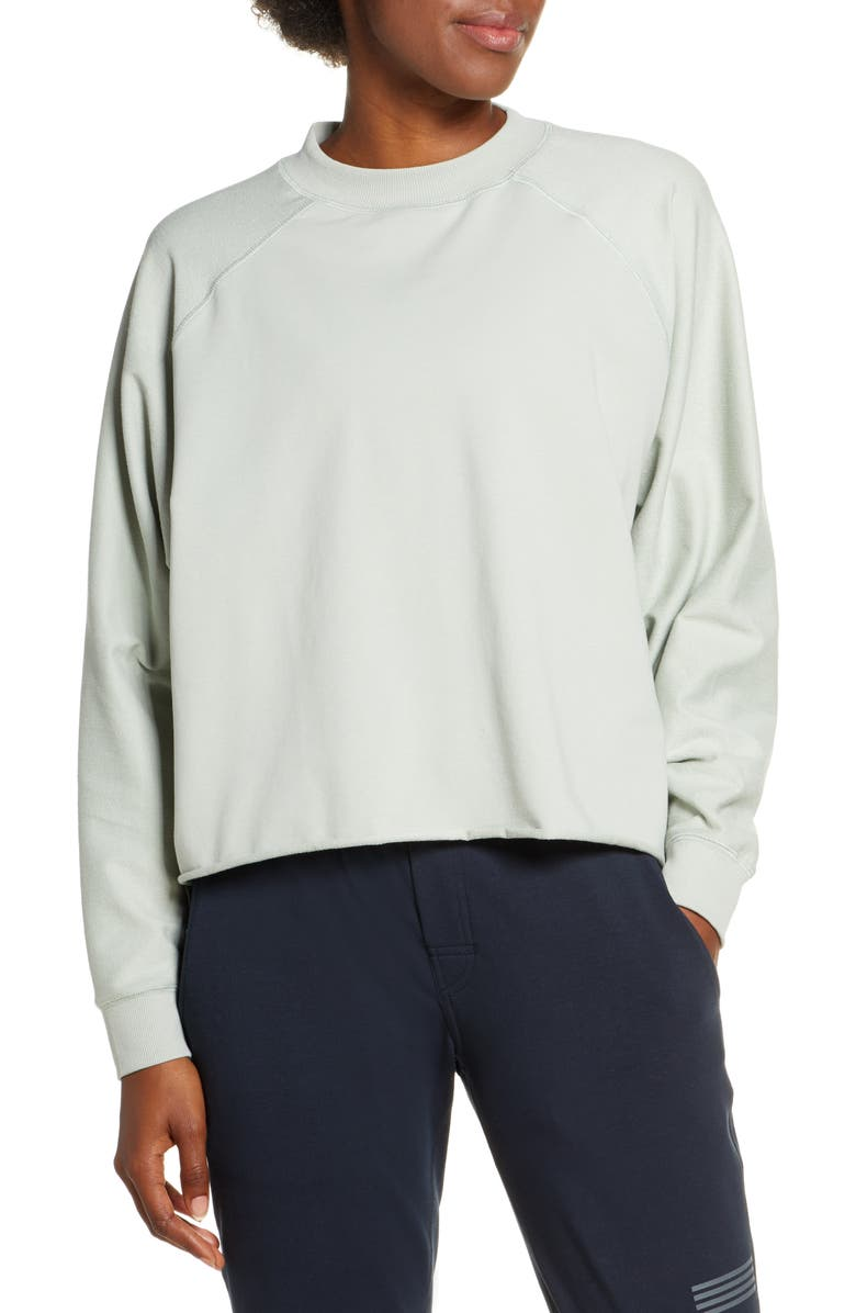 VUORI Faye Rolled Hem Sweatshirt, Main, color, SAGE