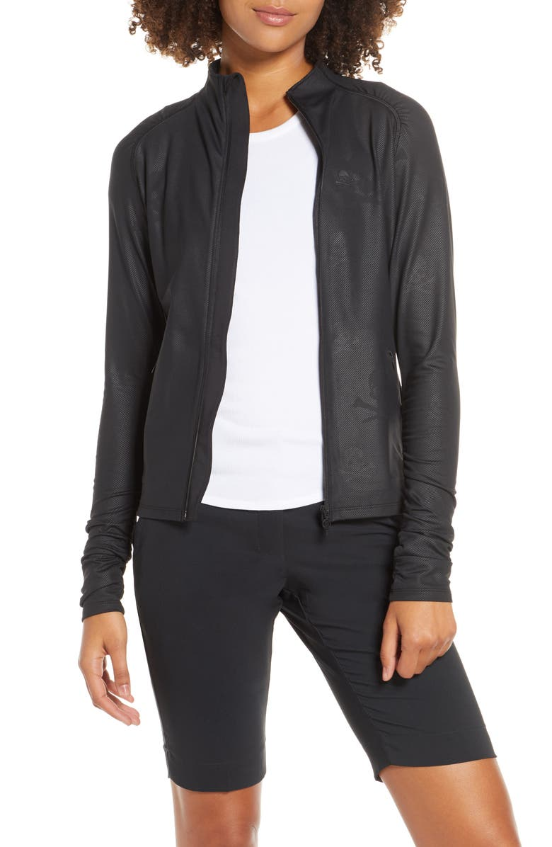 G/FORE Skull Embossed Midlayer Jacket, Main, color, ONYX