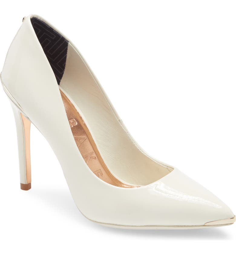 TED BAKER LONDON Izbell Pointed Toe Pump, Main, color, WHITE