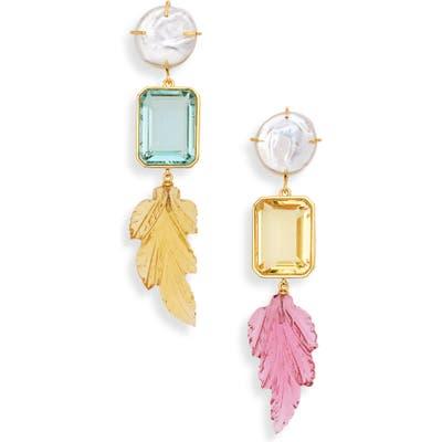 Lizzie Fortunato Joy Ride Mismatched Drop Earrings