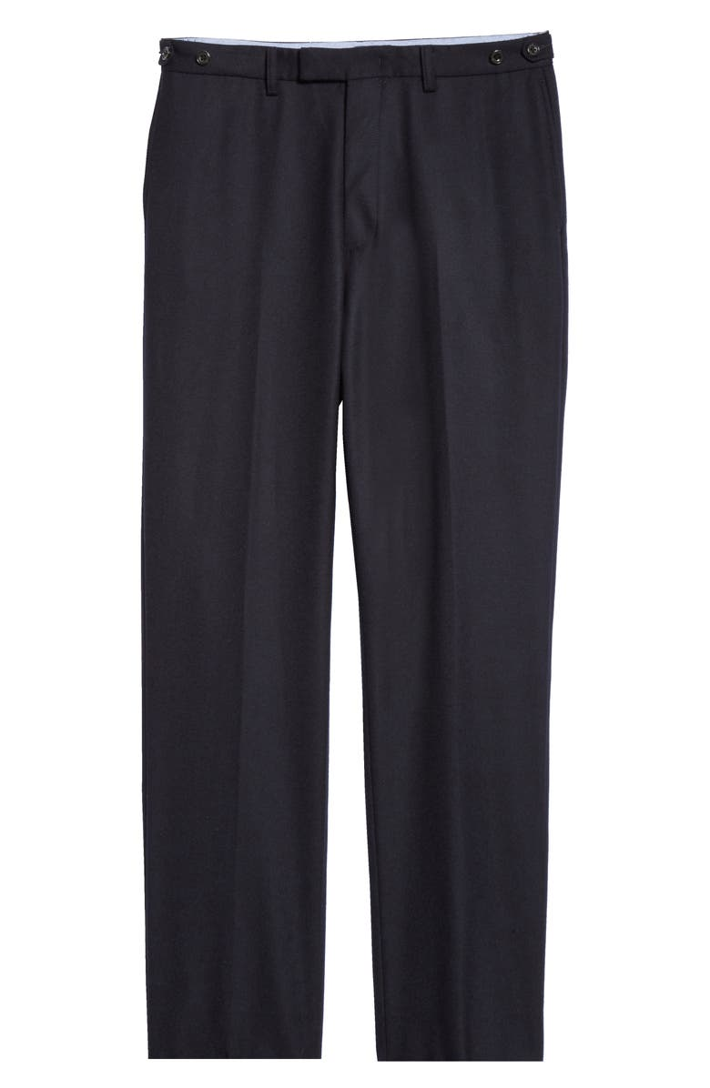 BEAMS PLUS Ivy 9/10 Wool Blend Flannel Cuff Trousers, Main, color, 410
