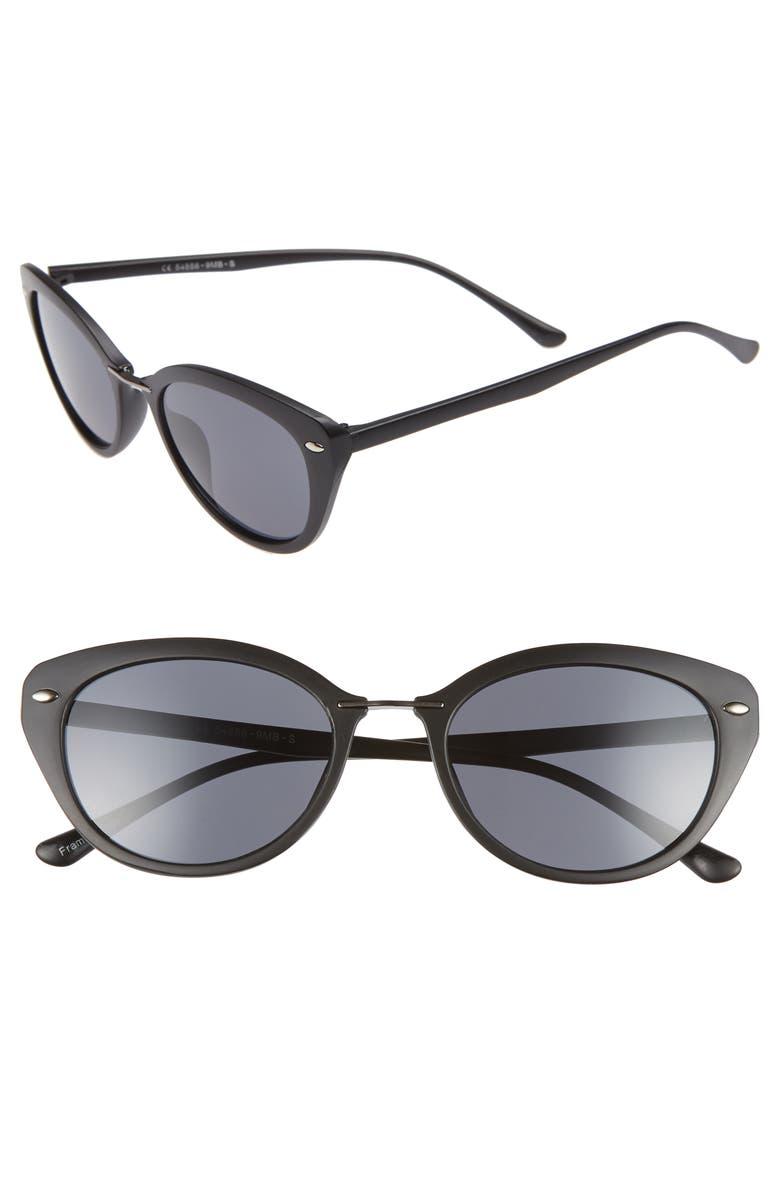 BP. 51mm Oval Sunglasses, Main, color, 001