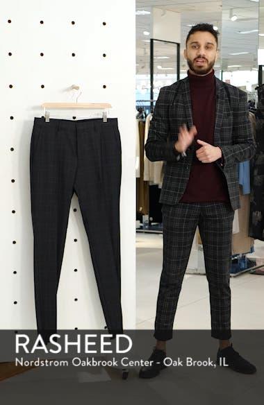 Genesis Flat Front Plaid Wool Trousers, sales video thumbnail