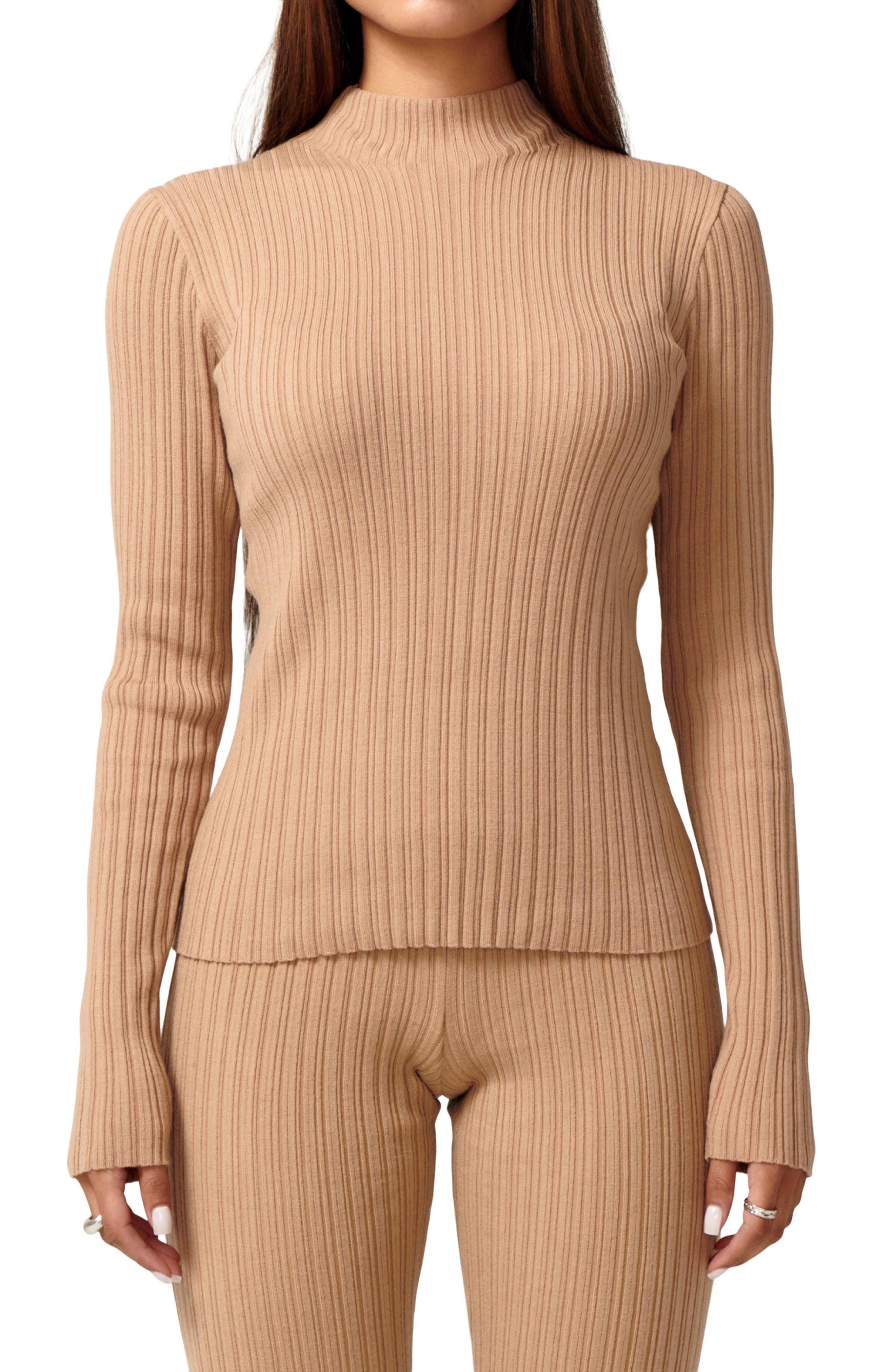 Icon Merino Wool Blend Mock Neck Sweater