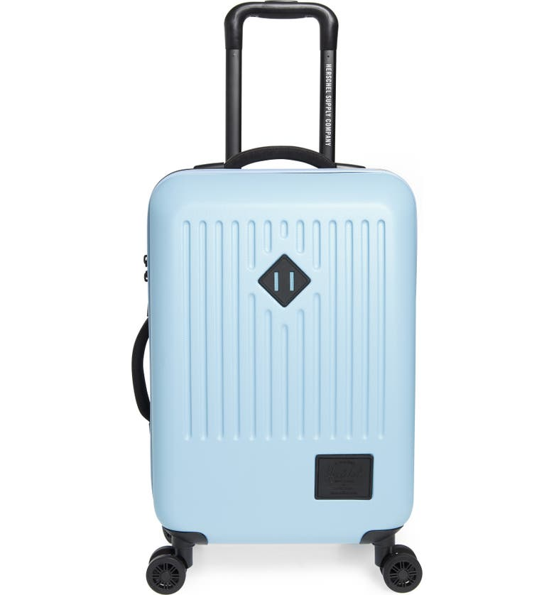 HERSCHEL SUPPLY CO. Small Trade 23-Inch Wheeled Packing Case, Main, color, AIRY BLUE