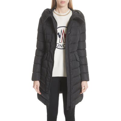 Moncler Grive Hooded Down Coat, Blue