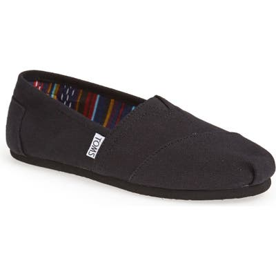 Toms Classic Canvas Slip-On- Black