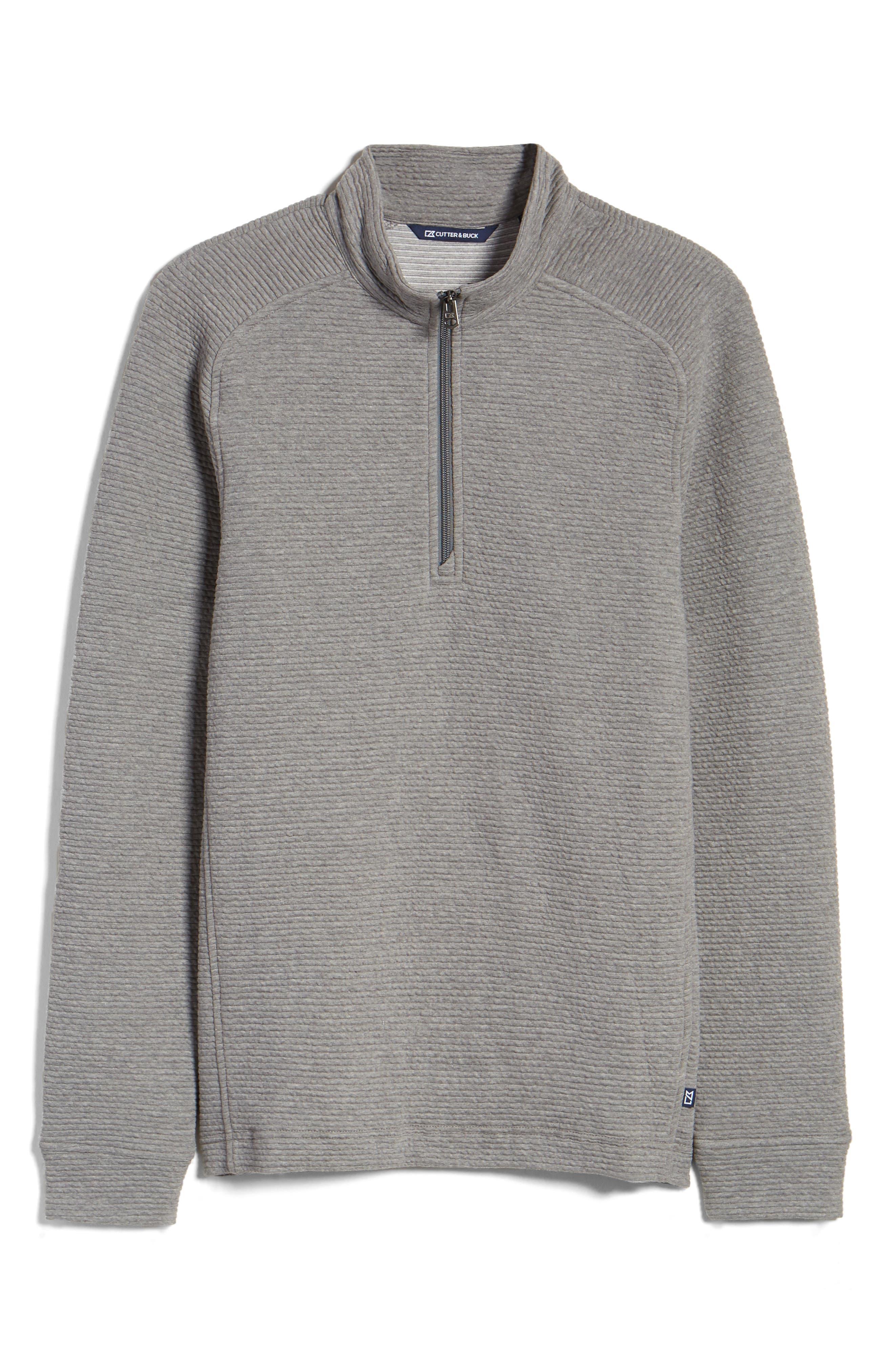 Coastal Ribbed Half Zip Pullover