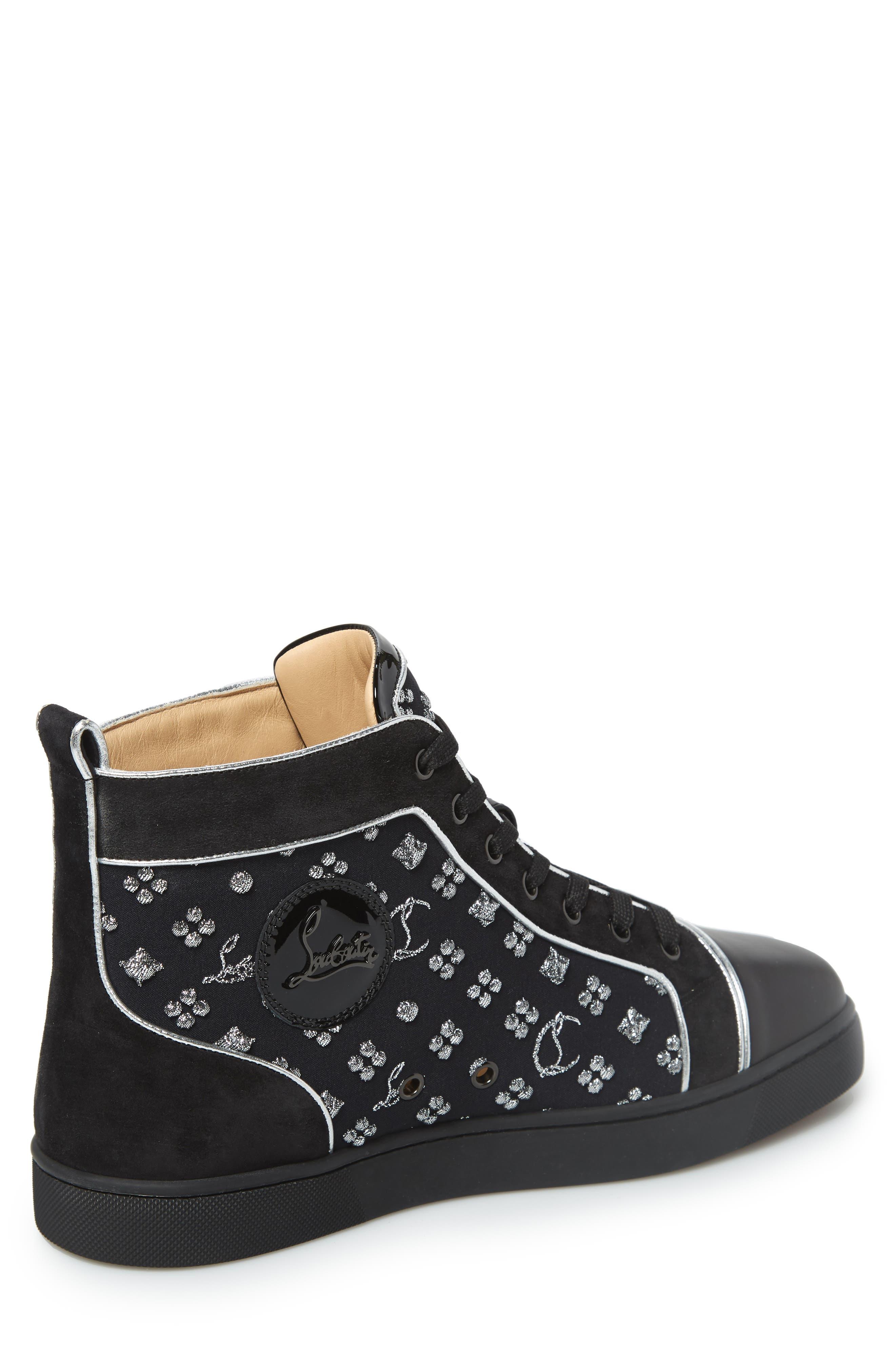 ,                             Louis Orlato High Top Sneaker,                             Alternate thumbnail 2, color,                             BLACK/SILVER