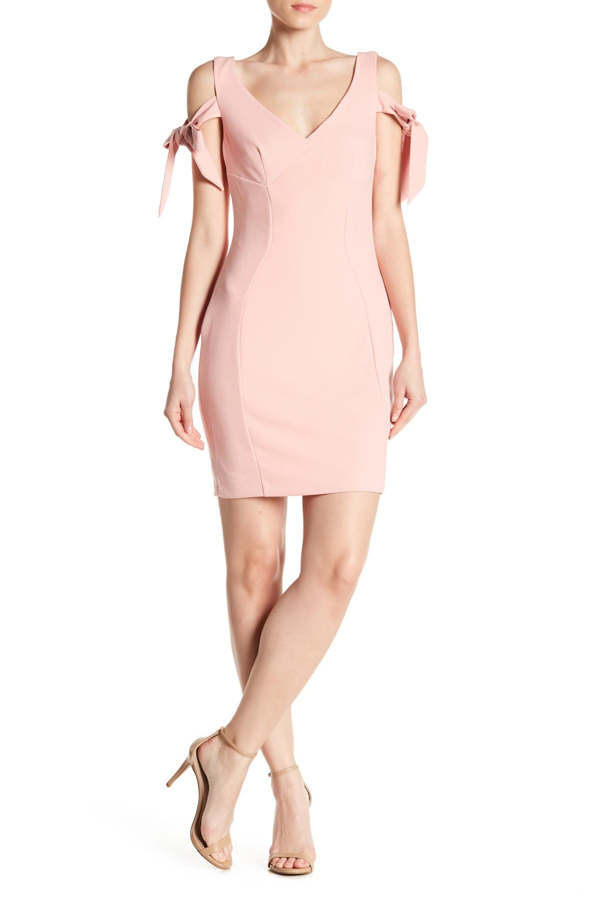 Image of Alexia Admor Tie Sleeve Bodycon Dress