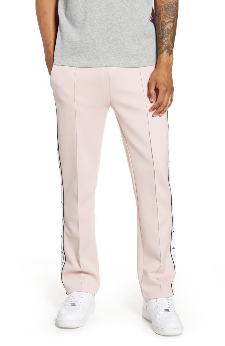 KAPPA Active Authentic Jpn Bailor Track Pants, Main, color, PINK-WHITE