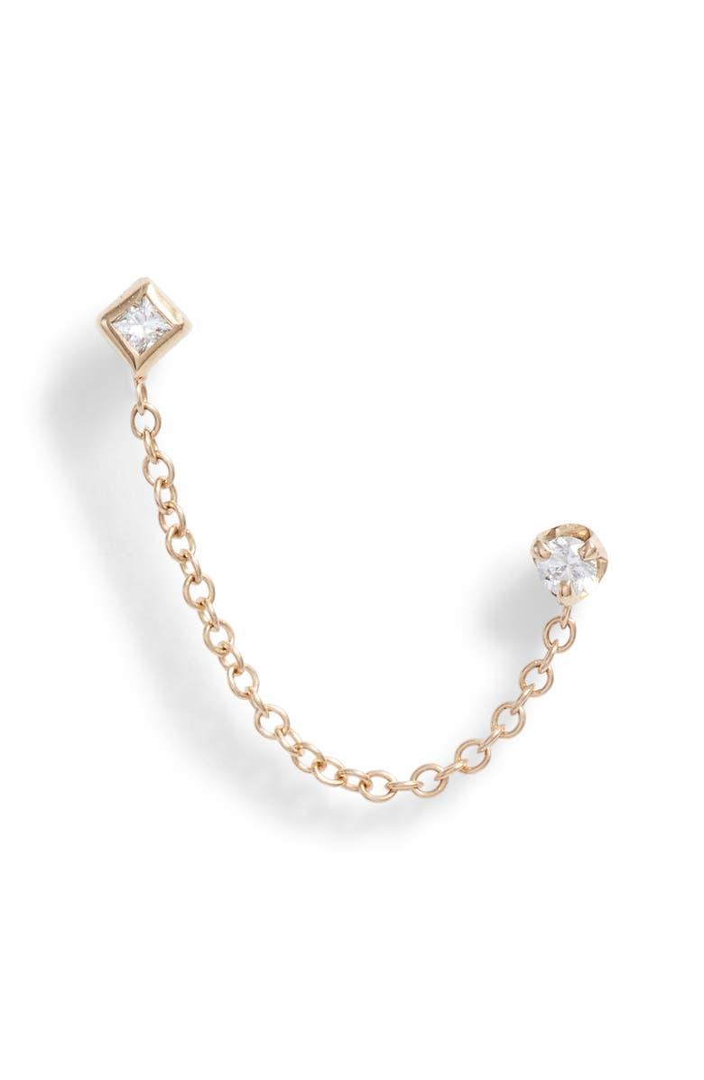 Zo Chicco Diamond Chain Stud Earring