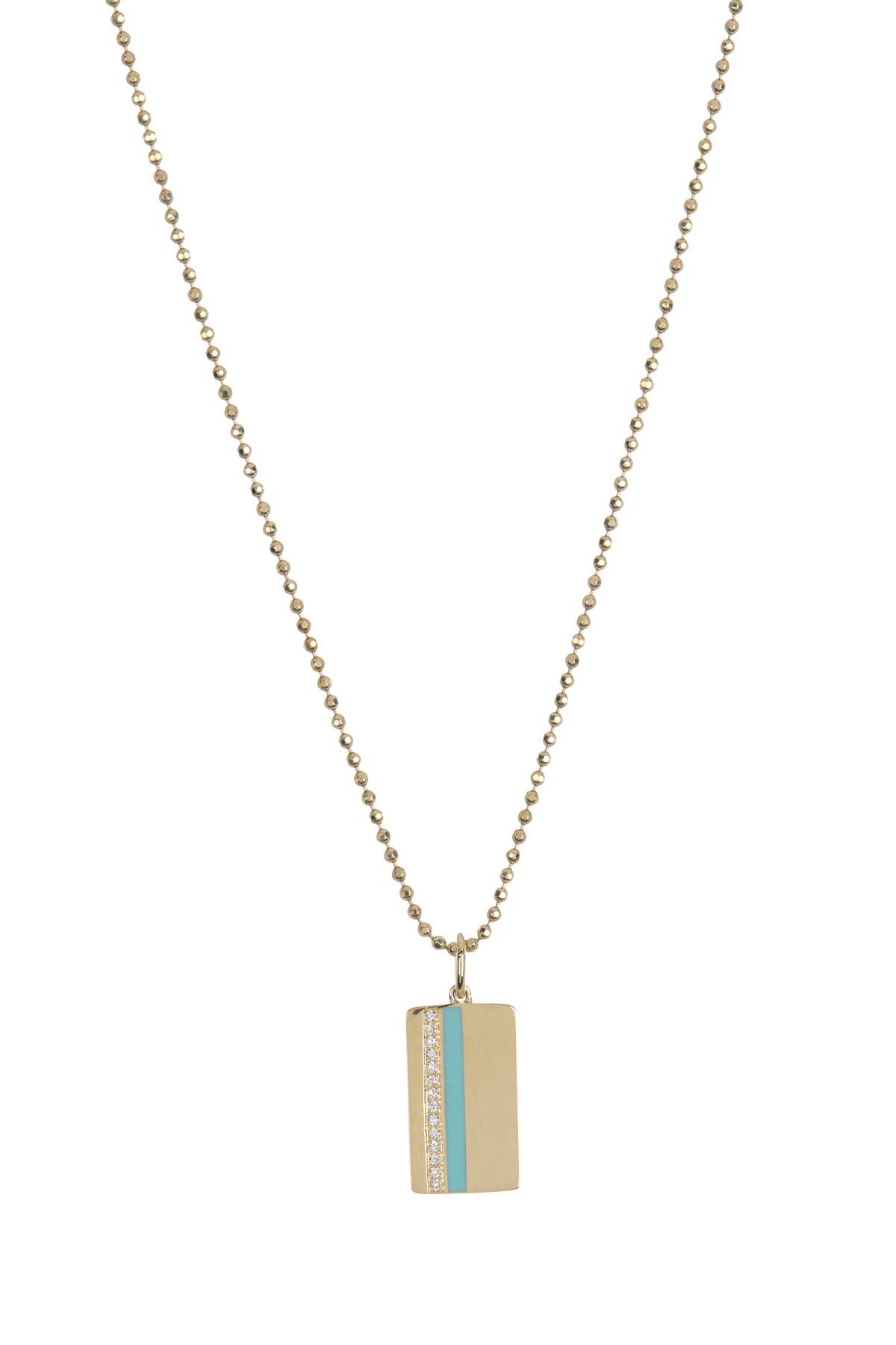 Image of EF Collection Pave Stone Vertical Pendant Necklace