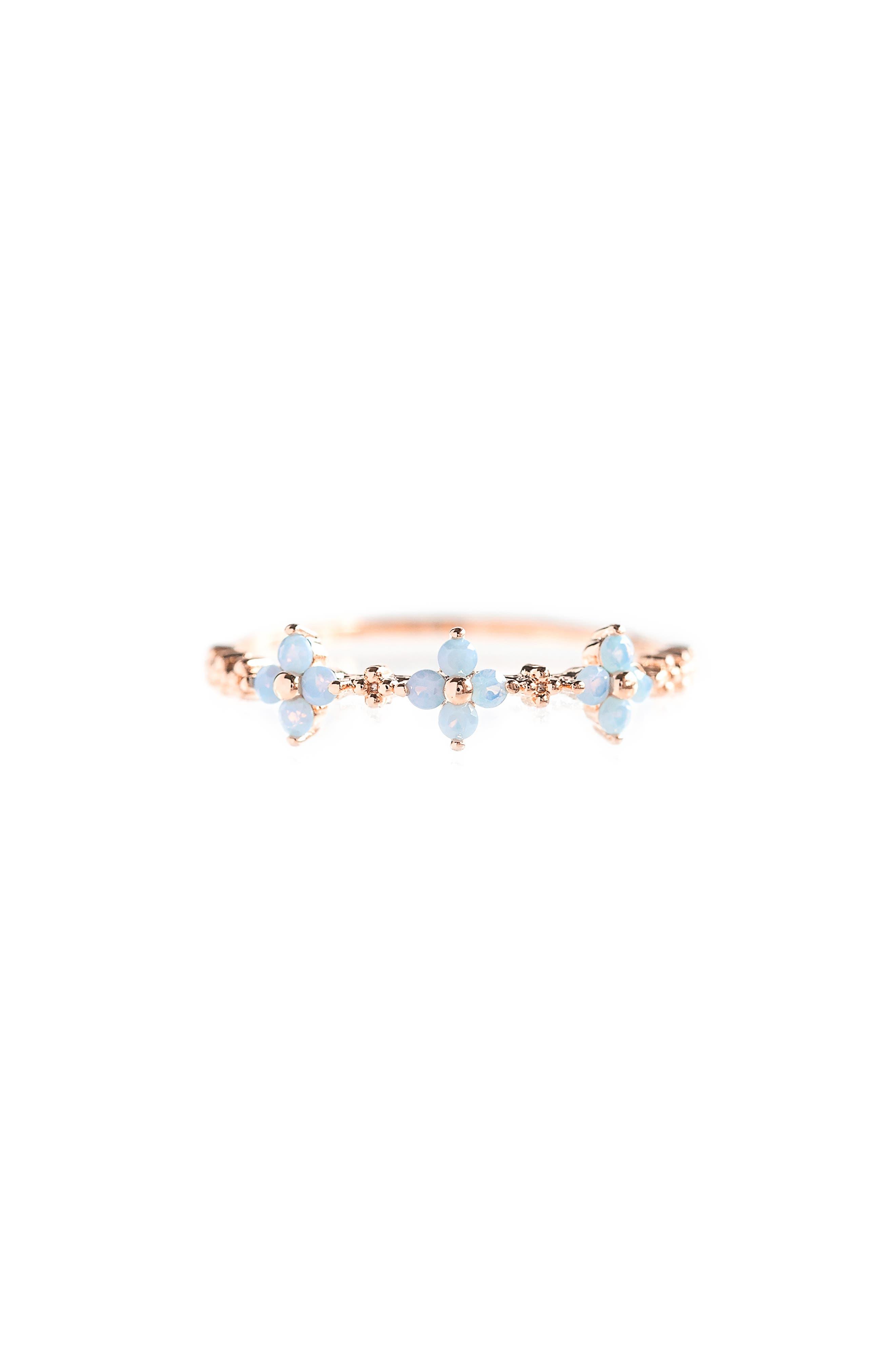 Blue Blossom Love Ring